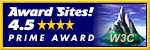 AwardSites! rated 4.5 Prime Award
